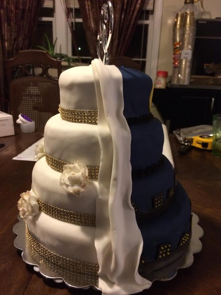 Heather & Kayla's Wedding Cake 1