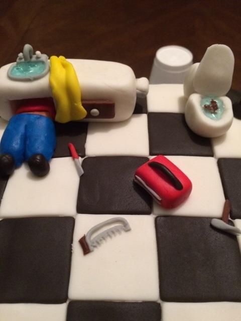 Plumber Cake Top View