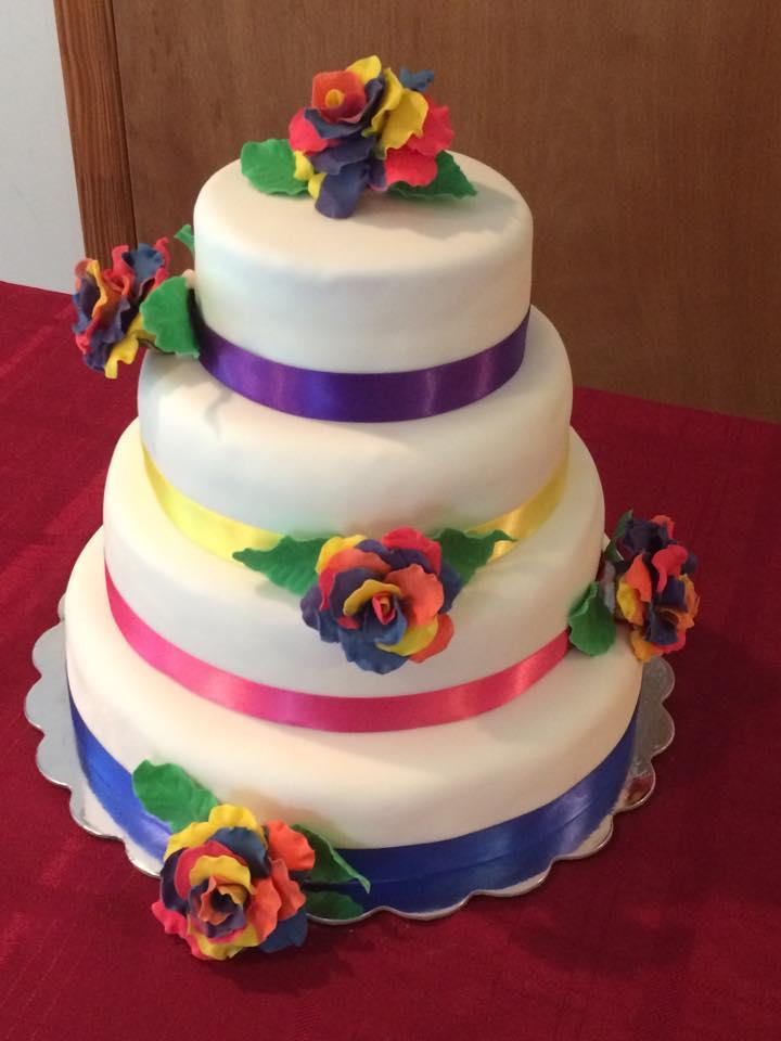 Rainbow Rose Cake 2